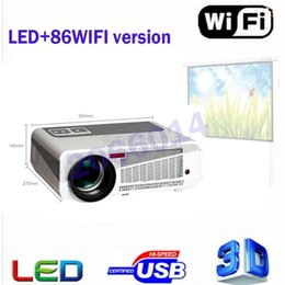 Wholesale 3d Hd Video Projector - Wholesale- 2017 Newest Full HD Projector 5500 lumens LED Android4.4 Wifi Smart Multimedia video 3D Proyector Full hd for home theater