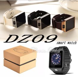 Wholesale Wrist Watch Dials - DZ09 smart watch music player SIM Intelligent mobile phone watch can record the sleep state can fit 32G sd card GT08 A1 U8 also in stock