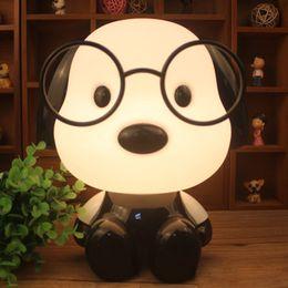 Wholesale Small Plugging Lamp - Super Meng dog small night light creative gift cartoon modeling desk lamp plug creative children bedroom