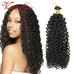 Wholesale Deep Wave Hair Braids - Freetress Braiding Hair Whlesale Deep Twist Water Wave Crochet braids 14 inch 30 roots pack Curly Crochet Hair Bulk Crochet Hair Extensions