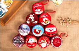 Wholesale Gift Tin Can - Christmas Ornament Originality The small tin Practicability Gift Can Save change, headphones, keys, candy storage bag