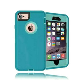 Wholesale Apple Top - Top Quality Hybrid Defender Case for iPhone 7 Plus 6 6S Plus 5 5S SE Galaxy S8 Plus Note 5 S7 edge S6 edge Shockproof Cases Dual Layer Cover