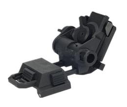 Cascos tácticos airsoft negro online-Tactical helmet parts ficticio L4G24 NVG Mount 100% Plastic para airsoft juego cosplay sin función black DE