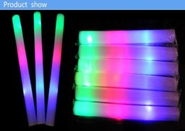 Wholesale Kids Bubble Sticks - Mix Color Led Foam Stick Glow For Wedding Party Decoration Camping Christmas Festivities Ceremony LED Toys Sponge Stick Bubble Bar good