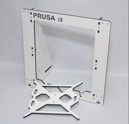 Wholesale Prusa Plate - Freeshipping Reprap Prusa i3 assemble frame aluminum composite plate 6mm thickness housing white color good quality