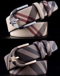 Wholesale Golden Layer - Men Fashion Flower case grain Genuine Leather Belts first layer leather pin buckle belt brand men's luxury fashion waist belt for men