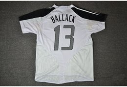 Wholesale Customized Rugby Jersey - Retro jersey 2004 04 Euro cup Ballack Klose Jerseys shirt Can Customize Name