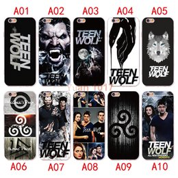 Wholesale Teen Wolf Iphone Case - New style Teen wolf Case For iPhone X 8 7 6 6S plus Silicone Cover Case Luxury Ultra Thin Soft TPU For iPhone 5 4 se Mobile Phone bag