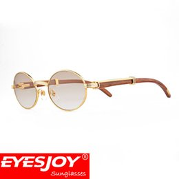Wholesale Optical Frames Sunglasses - Sunglasses brand designer prescription wood clear glasses myopia optical reading glasses 18k gold plated frame wood sunglasses for women men