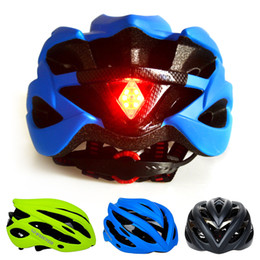 Wholesale Pink Bicycle Accessories - Cycling Helmet Ultralight Bicycle Helmet with LED Tail Light In-mold Road Bike Safety Helmet Head Protector Riding Accessories