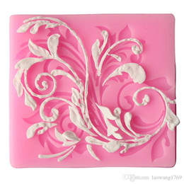 Wholesale Sugar Craft Flowers - 1pc Fondant Silicone Lace Cake Candy Decorating Sugar Craft Flower Mold Mould FM1098