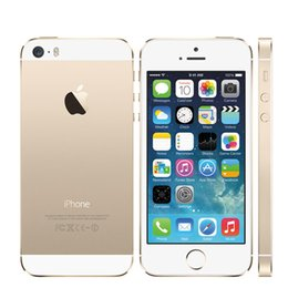 Wholesale Wholesale Unlocked Iphone Gold - Refurbished Original Apple Iphone 5S Cell Phone 4.0Inch Screen IOS 8.0 8.0MP Camera Factory Unlocked iphone5S
