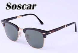 Wholesale Drop Shipping Sunglasses - Soscar Folding Sunglasses Brand Authentic Sunglasses Sports Men Designer Sunglasses UV400 High Quality Glasses 51mm Drop Shipping