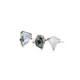 Wholesale Women Finger Tip Ring - Midi Rings 3 pcs Set Gemstone Women's Rhinestone Knuckle Midi Mid Finger Tip Stacking Rings for Women
