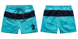 Wholesale Mens Short Surf - Wholesale-Summer Swimwear Beach Pants Mens Board Shorts Men Surf Shorts Small Horse Swim Trunks Sport Shorts de bain homme free shipping