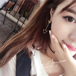 Wholesale Earring Korea Design - South Korea's earrings new design wind long earrings simple personality female South Korea earrings