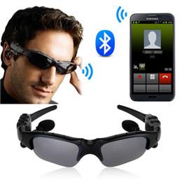 Wholesale Earphone Glasses - Hot Selling Sport Sunglasses Bluetooth 4.1 Headset Stereo Music Earphone Sun Glasses Micphone for Sport Driving