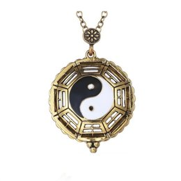 Wholesale Necklaces Glass Factory - Ying Yang Symbol Locket Necklace Latest Designe Statement Glass Pendant Hot and Factory Direct Sale 16N0326