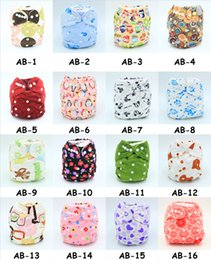 Wholesale Organic Cloth Nappies - Baby Diaper Nappy Pants Infant Boy Girl Cloth Diapers Adjustable Organic Printed Cartoon Washable Waterproof Reusable