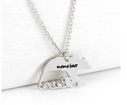 Wholesale New Polar Bear - New Mama Bear Necklace Fashion silver plated Polar Mama Bear Necklaces jewelry Gifts for Mom Wife Mother's Day Gift Birthday Remembrance