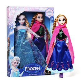 Wholesale Hot Pvc Doll - Hot Sell Frozen Princess Dolls Elsa And Frozen Anna Girl Gifts Frozen Toys Doll Joint Moveable Free Shipping JC248
