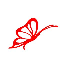 Wholesale Butterfly Glue - Wholesale 10pcs lot Free Flying Insect Butterfly Silhouette Art of Car Sticker for Window Bumper Kayak Car Styling Reflective Vinyl Decal