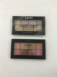 Wholesale New Genius - New NYX Sweet Cheeks Blush Palette 8 color & Genius Genie Highlither Makeup Palette 6 color DHL Shipping
