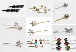 Wholesale Dragonfly Hair - 50pcs Gemstone Hairpin Clip Crystal Dragonfly Bobby Pin Grip Girls Hair Jewelry Accessories