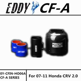Wholesale Intakes Honda - Free Shipping For Honda CRV 2.0 2007-2011 High Performance CF-A Carbon Fiber Cold Air Intake System Air Filter Air Intake KIT
