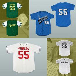 Wholesale Atlanta Baseball Jersey - Kenny Powers #55 Mexican Charros Atlanta New York Myrtle Beach Mermen All Stitched Baseball Jerseys Free Shipping