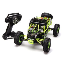 Wholesale Rc Car Led Lights - Wholesale- New WLtoys 12428 2.4G 1 12 Remote Control Car 4WD Crawler RC Car With LED Light
