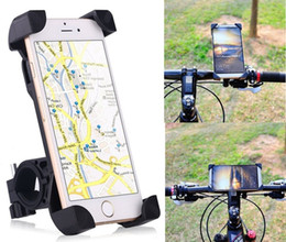 Wholesale Universal Motorcycle Handlebars - 360° Universal Motorcycle Bike Bicycle Handlebar Mount Holder For Smartphone GPS Devices Iphone Samsung HTC Xiaomi Huawei LG
