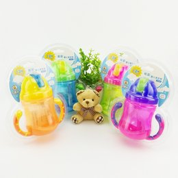 Wholesale Wholesale Drinking Cups Straws - MinBoutique M17055 Baby Drink Cups with a Straw Handle Cups