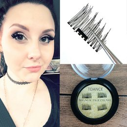 Wholesale Hair Stripping Products - 2017 New Products 3D Magnetic False Fake Eyelashes Easy To Wear Extension Magnetic Eyelashes Makeup Soft Hair Magnetic False Eyelashes