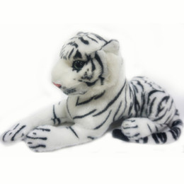 stuffed animal cushion Coupons - Wholesale- 1PCS Cute Plush White Snow Tiger Toys Stuffed Dolls Animals Pillows Cushion Childs Baby Children Kids Birthday Gifts 26cm