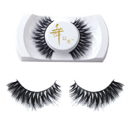 Wholesale Makeup For Girls - Wholesale- 1Pair Handmade Real Horse Hair Natural Long Cross False Eyelashes Fake Eye Lashes Makeup Tools for Women Lady Girls