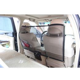 Wholesale Pet Car Barrier - Adjustable Car Fence Pet Car Barrier Net Backseat Dog Travel Safety Mesh Universal for Vehicle SUV Trunk