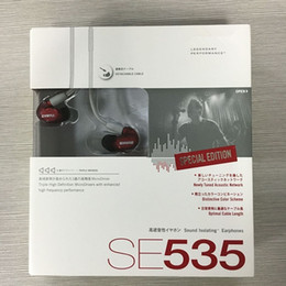 Wholesale New Listen - NEW High Quality SE 535 HIFI fever Ear Monitoring earphones with microphone se535 special edition ear listening earplug