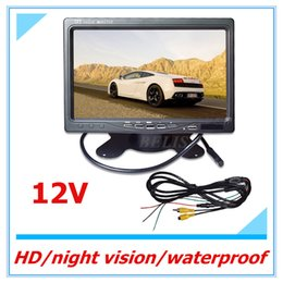 Wholesale Tv Headrest Dvd Monitors - Free shipping inch 16:9 Car TFT LCD Analog TV Stand Alone Monitor Digital Car Rear view Monitor Camera Car Headrest DVD Player