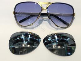 2019 armação de titânio óculos de sol homem Navio grátis QUENTE! Moda óculos de sol de luxo p8678 carerras óculos de sol espelho lente titanium frame com troca de lente extra homens marca designer armação de titânio óculos de sol homem barato
