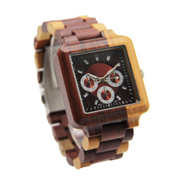 Wholesale New Battery Cost - Multi Color Statement Fashion Watch Wood Case And Band Stainless Steel Buckle Original Luxury Factory Lowest Cost BR8467-1