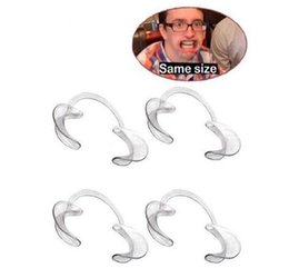 Wholesale Dental Mouth Cheek Retractor - 10pc free epacket Dental Dentist Material C-Shape Intra-Oral Cheek Lip Retractor Teeth Whitening Mouth Opener Large Size