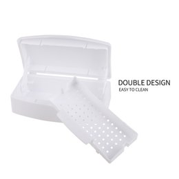 Wholesale Import Nail Art - Mini Nail Art Imported Resin Sterilizer Tray Disinfection Box Salon Beauty Manicure Tool Sterilizing Tray Nail manicure Tools 0603080