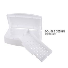 Wholesale Salon Manicure Tool Box - Mini Nail Art Imported Resin Sterilizer Tray Disinfection Box Salon Beauty Manicure Tool Sterilizing Tray Nail manicure Tools 0603080