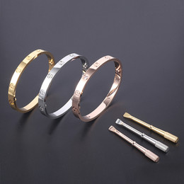 Wholesale Gold Filled Jewelry Bangles - Factory Direct 316L Titanium steel Brand Bangle Bracelet Non-fading New Trendy Bangle with Screwdriver Women and Man Jewelry Free Shipping