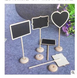 2019 stand di matrimonio Mini lavagna in legno in legno lavagna sul posto in piedi Stand Carta titolare numero di tavolo per la decorazione di eventi di nozze stand di matrimonio economici