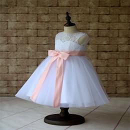 vestido de chá de tule roxo Desconto 2017 novos vestidos da menina de flor com caixilhos buraco da fechadura de volta meninas criança / criança vestido de festa pageant vestido de comunhão para o casamento