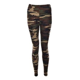 Wholesale Camouflage Leggings Wholesale - Wholesale- Sexy Fashionable Women Camouflage Army Green Stretch Leggings Pants Trouser Graffiti Slim For Women Gifts Wholesale 3 Color 1Pcs