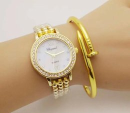 Wholesale Womans Buckles - Relogio Feminino Luxury Famous Brand Women Dress Watches Steel Quartz Watch Diamonds Gold Watches for Womans Casual Wristwatch