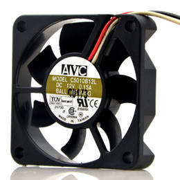 Wholesale Avc Fan Cpu - Genuine AVC 5010 12V CPU C5010B12L 5CM cooling fan